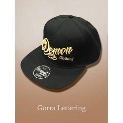 GORRA LETTERING BLACK